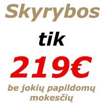 Skyrybu kaina
